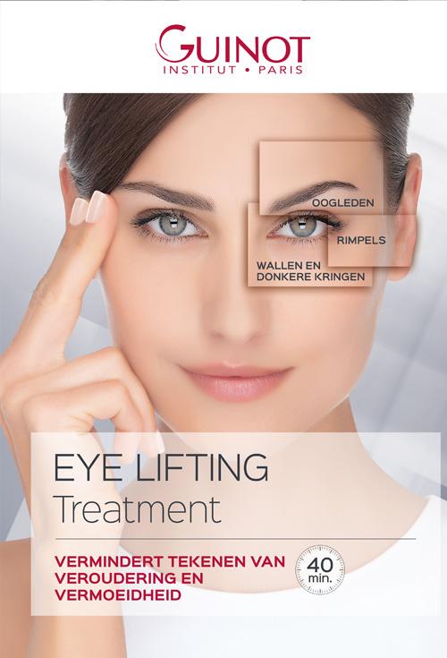 Guinot Eye Lift Treatment: Vermindert de tekenen van veroudering en vermoeidheid rondom de oogcontouren door spierstimulatie
